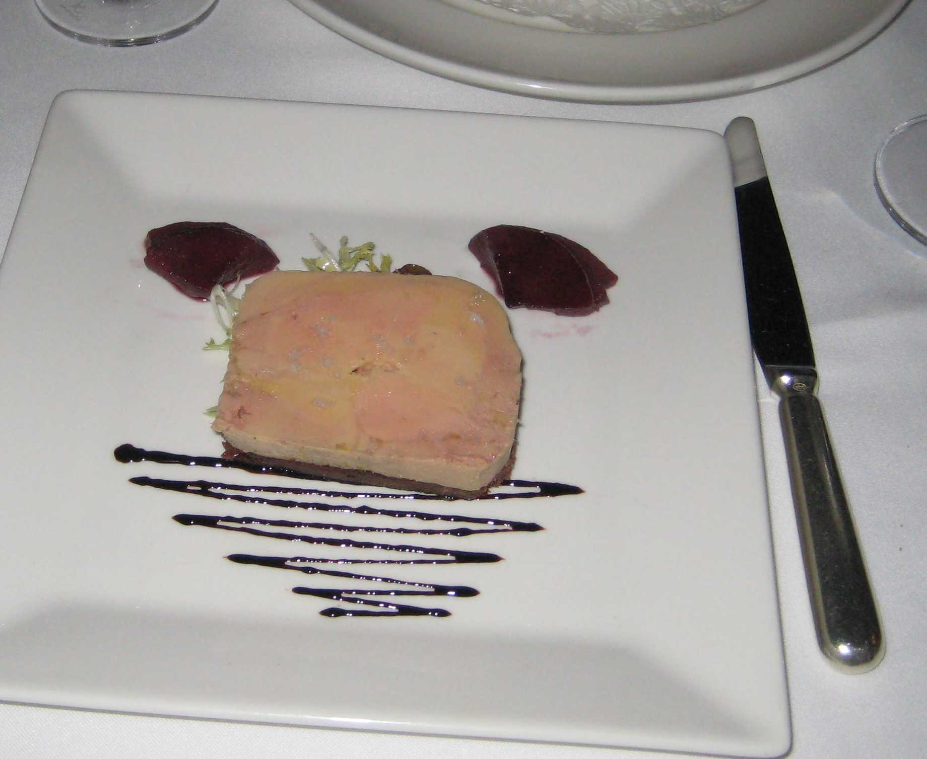 Pate with Poached Pears