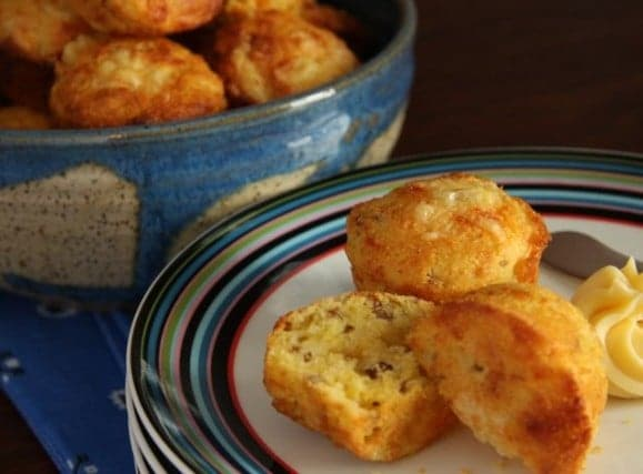 Pecan Corn Muffins